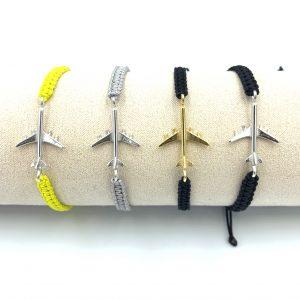 Bracelet Aircraft silver macrame