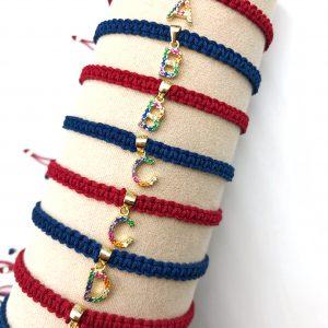 Initial Macramé bracelet